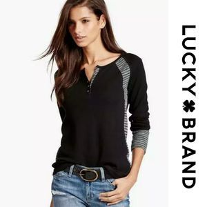 Lucky Brand Swit Mixed Thermal Top Shirt